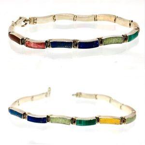 Sterling silver, Semi-precious stones bracelet